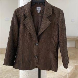 Chico's 1 runched Bronze brown blazer